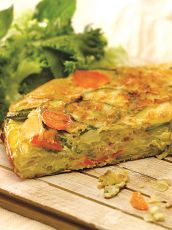 Tortilla soufle de vegetales