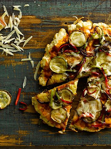 Pizza integral de verduras